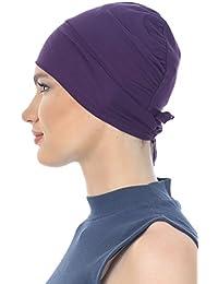 Unisex Baumwolle-Kappe Mit Binde An Der Ruckseite für Haarverlust, Krebs, Chemotherapie