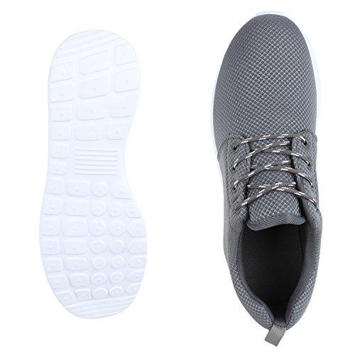 Ajvani, Sneaker Femme Gris / Blanc