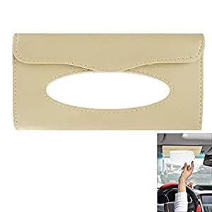 Vocado Beige Car Sun Visor Tissue Paper Box Case Auto Interior Decoration Accessories Holder