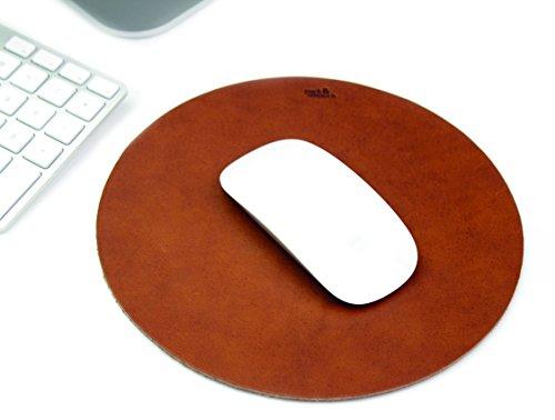 Runde Pack (Pack & Smooch Leder Mousepad Mit