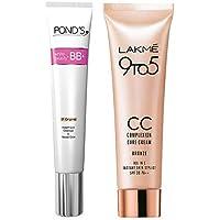 Pond's White Beauty BB+ Fairness Cream 01 Original, 18 g And Lakmé Complexion Care Face Cream, Bronze, 9g