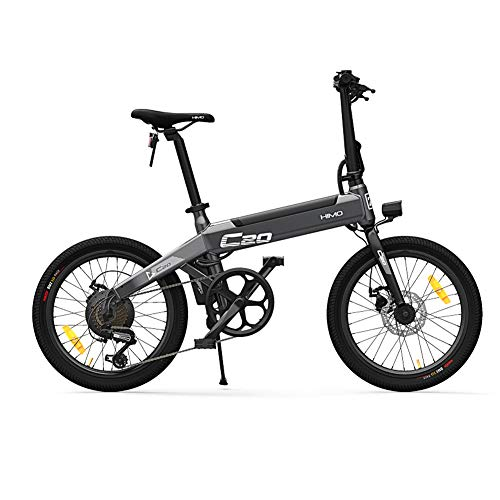 Syfinee Foldable Electric Bike with 36V 10AH Battery 3 Mode 6-Speed Shifting Moped Bicycle 25km/h Speed 80km Bike 250W Brushless Motor Riding