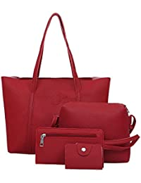 4081cfbb7ffc Ladies Bag A4 Women Four Set Handbag Shoulder Bags Four Pieces Tote Bag  Crossbody