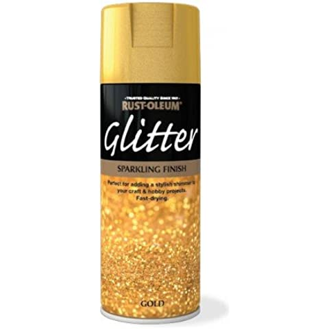 Rust-Oleum Sparkling Glitter dorati, Spray Aerosol Paint-Sigillante, colore: trasparente, oro, 2 pezzi