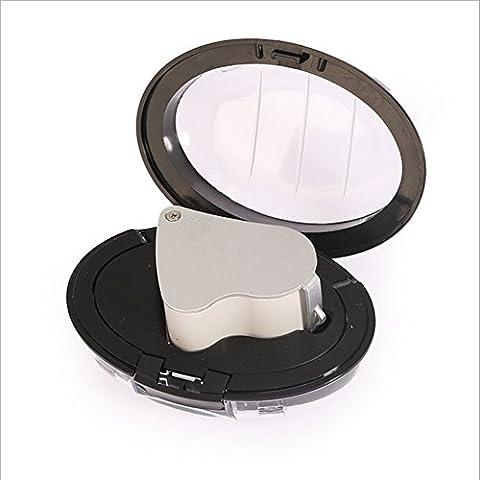 Vergrößerungsglas mit Licht 16 Doppel-Objektiv LED-Beleuchtung Schmuck Vergrößerungsglas Taschenmikroskop Vergrößerungsschmuck Augen Lupe