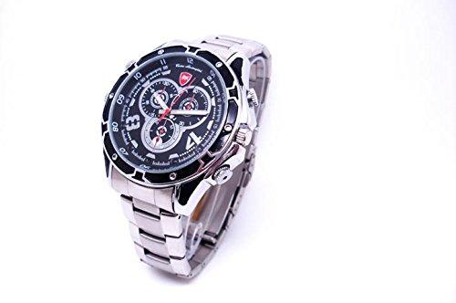 Full HD Armbanduhr Kamera K55, 12 Mio Pixel, getarnte Überwachungskamera, Langzeitüberwachung Versteckte Videoüberwachung, Spy Cam, IR Nachtsicht von Kobert-Goods Armbanduhr Video