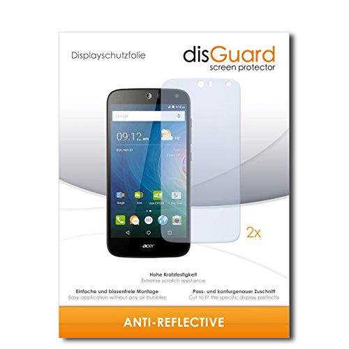 disGuard® Displayschutzfolie [Anti-Reflex] kompatibel mit Acer Liquid Z630 [2 Stück] Entspiegelnd, Matt, Antireflektierend, Extrem Kratzfest, Anti-Fingerabdruck - Panzerglas Folie, Schutzfolie