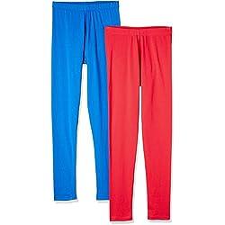 Myx Women's Cotton Stretch Leggings (Pack of 2) (AW16LEG01PCKL_Multi_Medium)