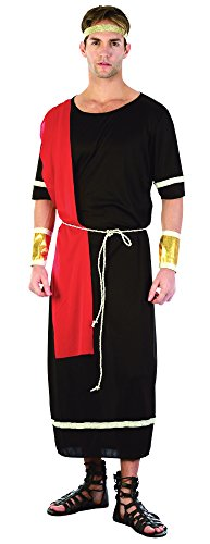 Caesar. Black Toga costume Adult Fancy (Römische Kostüm Uk Toga)