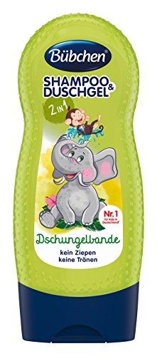Bübchen Shampoo & Duschgel Dschungelbande, 4er Pack (4 x 230 ml Flasche)