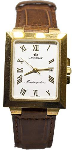 Orologio in oro da uomo lorenz rettangolare