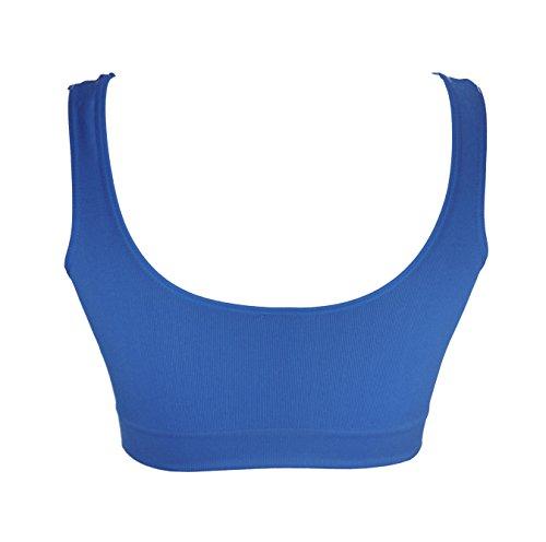 NEW Femme r Nouveau AHH Soutien-gorge Sans Couture Sport Leisure Crop Top pour femme yoga 3533 Mid-night Blue