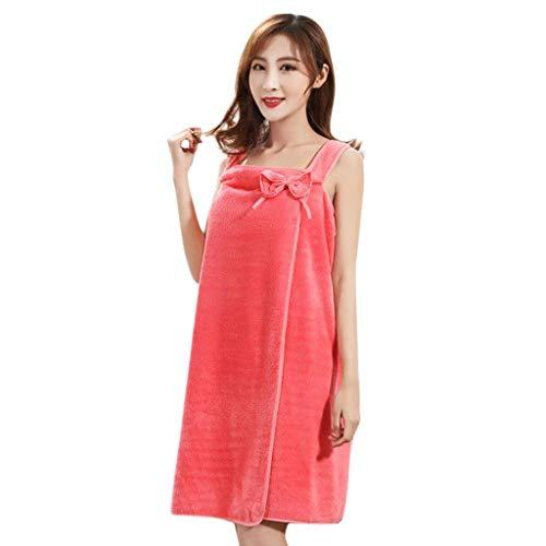 ❤Loveso❤ Mädchen Damen Mikrofaser Trendiges luftiges Strandkleid - Wickeltuch Kleid Wickelkleid Tunika Pareo Sarong Tuch Duschtuch Badetuch Saunatuch (Orange Gestreifte Badetuch)