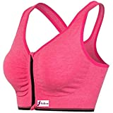 Ritu-Creation Women's Padded Full Coverage Front Zip Closure Sports Bra for Gym, Yoga, Running, and Fitness(Removable Pads)