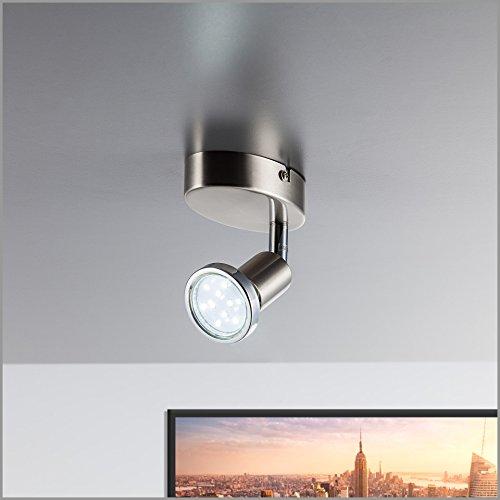 Led wanspot schwenkbar inkl 1 x 3w leuchtmittel 230v gu10 for Wohnzimmerleuchte led