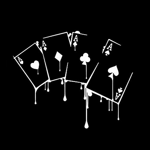 ZHOUHAOJIE Cartoon Auto Aufkleber Reflektierende Auto Aufkleber 15 6 * 12 7 cm Spaß Casino Poker Spiel Aufkleber Hochwertige Form Auto Aufkleber Vinyl 6 (Spielen Vinyl Spiele, Die Können Wir)