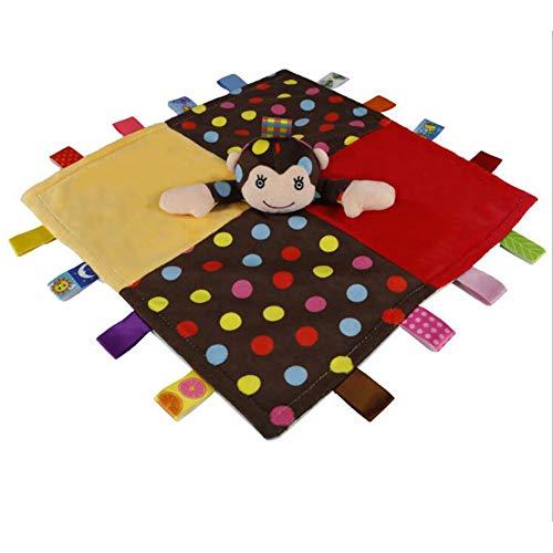 Taggies bébé Teething Couverture de sécurité enfant en bas âge Consolateur Couverture pour Snuggle avec ruban coloré Balises cadeau de baby shower