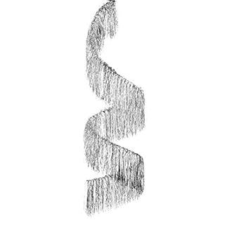 Abama Durchatmen-no2076-Suspension Spirale Durchmesser 30cm Höhe 100cm Silber