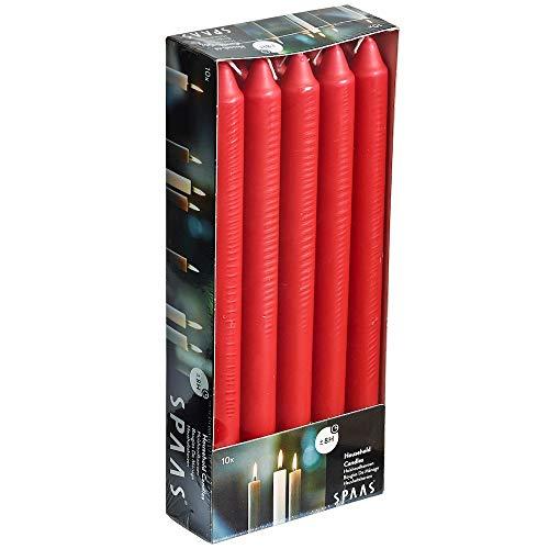 Ivyline s000900901321/240mm Hogar Velas-Rojo (Pack de 10)