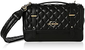 Love Moschino Borsa Quilted Nappa Pu Nero Gal.oro, Sacs baguette femme, Multicolore (Black-gold), 10x17x28 cm (B x H T)