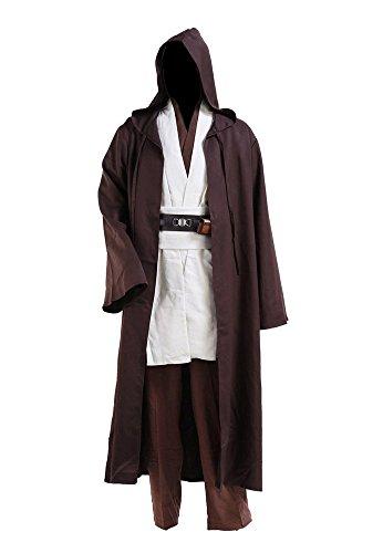 Kostüm Obiwan - Star Wars Kostüme Obi Wan Kenobi Kostüm Jedi Kostüme für Erwachsene Herren L