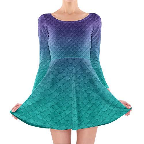 Inspired Longsleeve Skater Dress - L Kleid mit Langen Ärmel ()