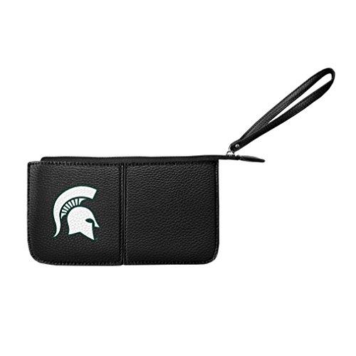 Littlearth Damen NCAA Michigan State Spartans Pebble Wristlet, schwarz, 20,3x 10,2x 2,5cm -