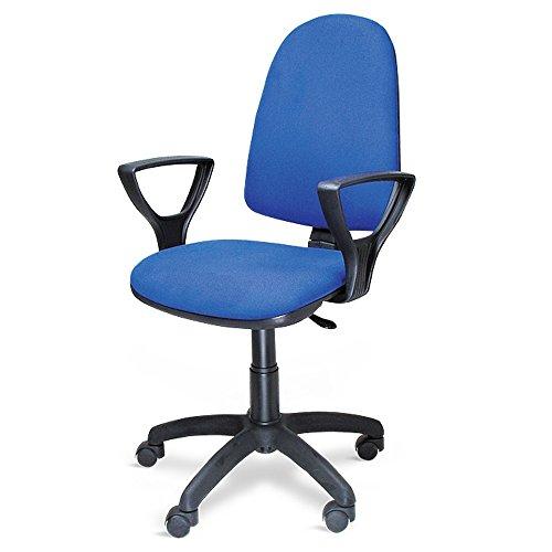 Poltrona sedia ufficio con ruote altezza regolabile studio casa BLU 301/T/B