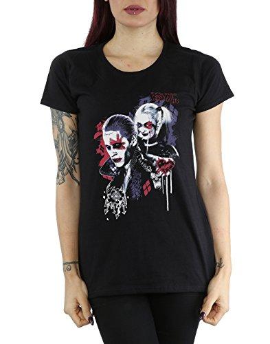 Suicide Squad Femme Harley Quinn Puddin T-Shirt Noir