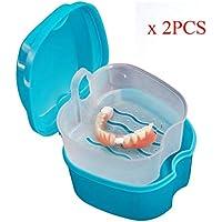 TAOtTAO Prothese Box Box Dental Falsche Zähne Aufbewahrungsbox mit Hanging Net Container