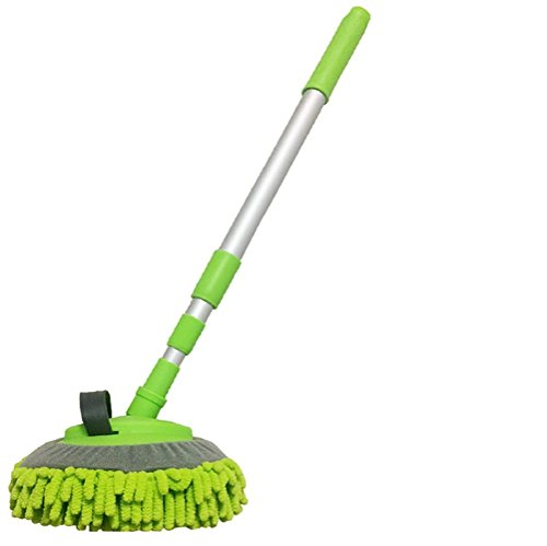 JINER Waschbürste Mit Teleskopstiel, Microfaser Chenille Flexible Griff Auto Clean Wash Mop Wash Mop