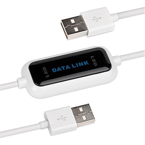Salcar Datenkabel High-Speed USB 2.0 PC zu PC Linkkabel für Windows 10/8.1/8/7/Vista/XP/2000, einfachster Datenaustausch zwischen 2 Computern -
