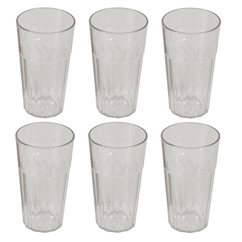 Viva-Haushaltswaren - 6 XXL Gläser / Longdrinkgläser aus transparentem Kunststoff (Polycarbonat) ca. 480ml / stapelbar