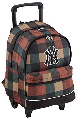major-league-baseball-sac-a-dos-enfants-sac-a-dos-avec-2-compartiments-trolley-45-cm-marron