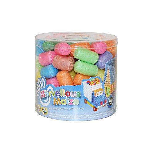 Little Helper NBMM01-100DEWunderbare Mais Packung von Multi-farbigen Nudeln/Formen Handwerk - 100 Stück, mehrfarbig