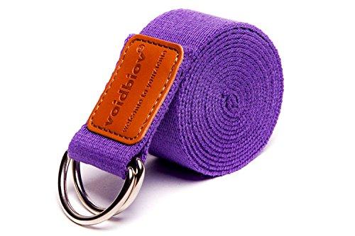 Anneau en D Boucle Coton Yoga Sangles 6ft (4 couleurs), idéal pour s'étirer, tenant poses, la souplesse et thérapie physique