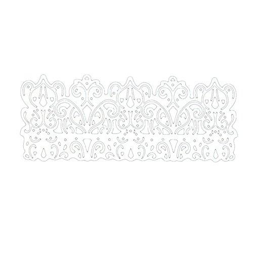 periwinkLuQ Vintage Spitzenborte DIY Scrapbook Grußkarte Geschenk Prägung Schablone Dekor – Silber