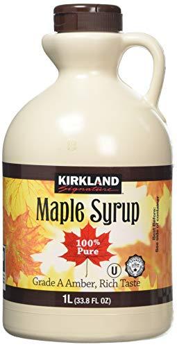 Kirkland Jarabe de arce, 100% puro y natural, grado A, sabor sabroso  1L