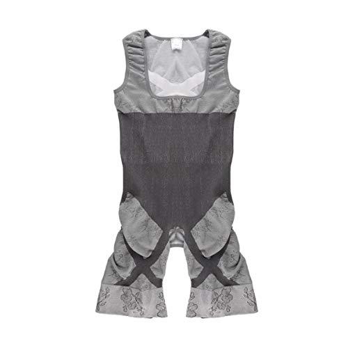 WEIWEITOE 1 stück Body Frauen Holzkohle Sculpting Unterwäsche Bambus Abnehmen Anzüge Shapewear Taille Trainer Korsetts Taille Cincher Körperformer, Grau, XXL -