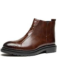 Botas de Chelsea para Hombre Moda de cocodrilo de Invierno Botas para Hombre Botines de Cuero