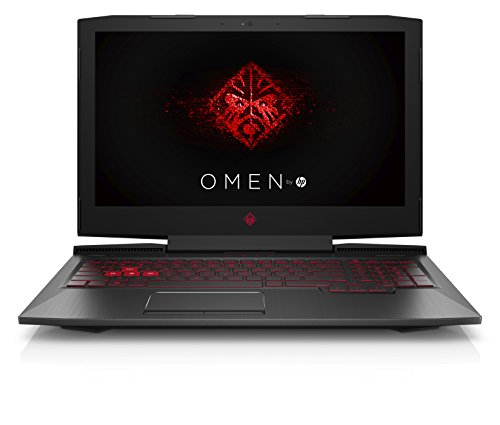 HP Omen (15-ce012ng 39,6 cm (15,6 Zoll) Laptop (Intel Core i7-7700HQ, 8 GB RAM, 1 TB HDD, 128 GB SSD, NVIDIA GeForce GTX 1050, FreeDOS 2.0) schwarz