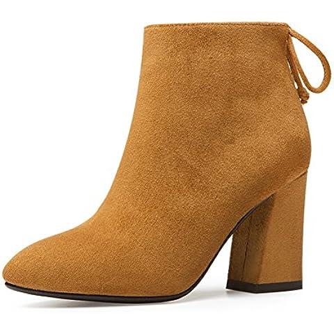 signora stivali trendy/Tacco alto/Coreano scrub Martin in autunnali e invernali stivali/Con stivali pesanti/Scarpe da donna
