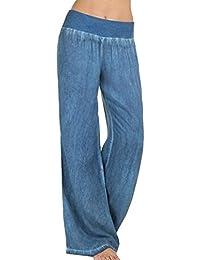 c0ceac89c82c Pantaloni Larghi Donna Pantaloni Estivi Pantaloni Pants Tempo Libero Pantaloni  High Waist Prodotto Plus Baggy Grazioso