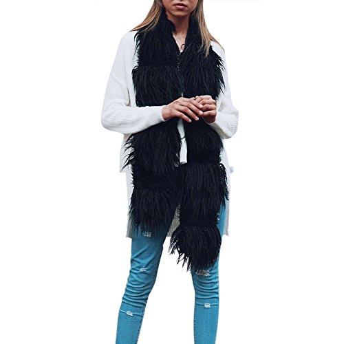 iBaste Moda Bufanda de Pelo Sintético Mujer Articulación Color Puro Estola para Otoño e Invierno