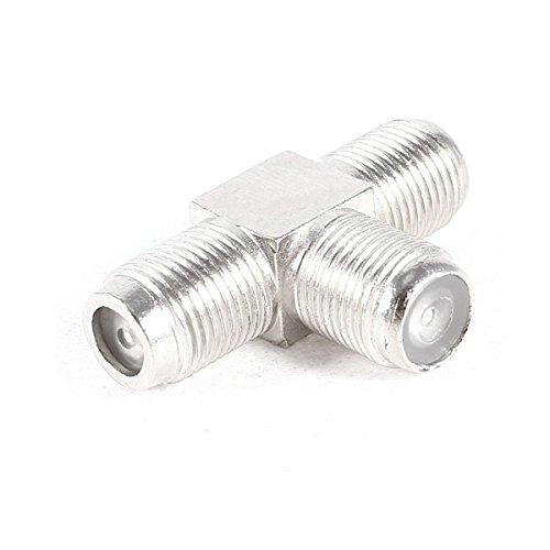 adaptare 60602 - Sat-Splitter/T-Stück (F-Buchse auf 2x F-Buchse), vernickelt