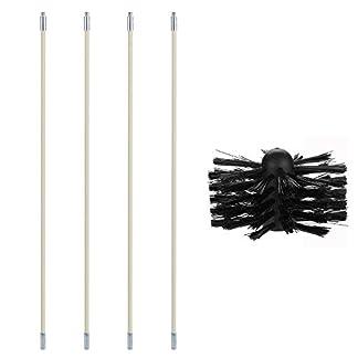 Cepillo para Chimenea/tubos,Roeam cepillo nylon limpieza con Varilla de extensión flexible doméstico industrial Kit de herramientas