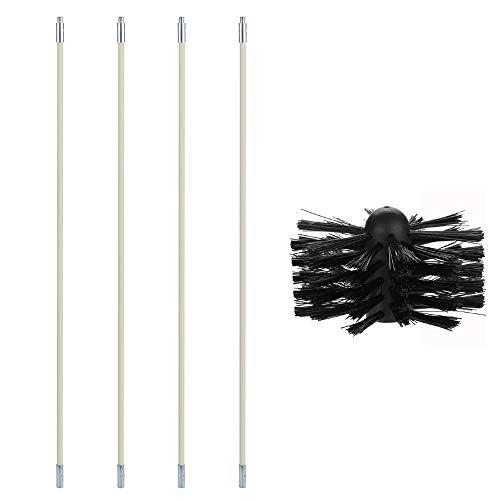 Cepillo para Chimenea/tubos,Roeam cepillo nylon limpieza con Varilla de extensión flexible doméstico...