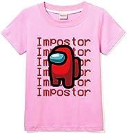 Forlcool Among Us - Camisa de verano para niño, 100% algodón, cómoda, de manga corta