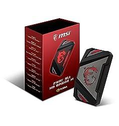 MSI GAMING 4K Video 60mm 2 Way SLI Bridge for GTX 1080 1070 Series Graphics Card GAMING 2WAY SLI BRIDGE L 5K