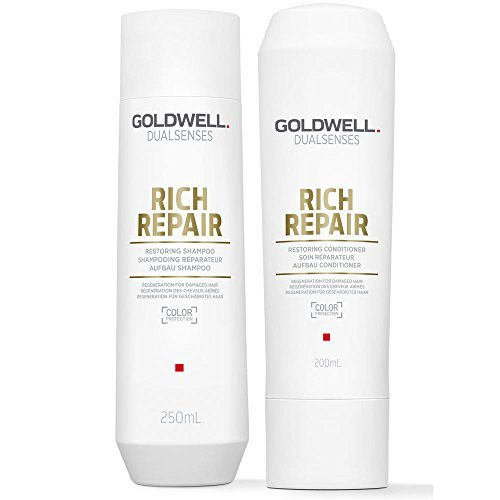 Haar-wiederherstellung (Goldwell DualSenses Rich Repair Wiederherstellung Shampoo 250 ml & CONDITIONER 200 ml)
